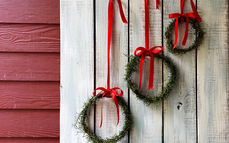 A Trio of Rosemary Wreaths
