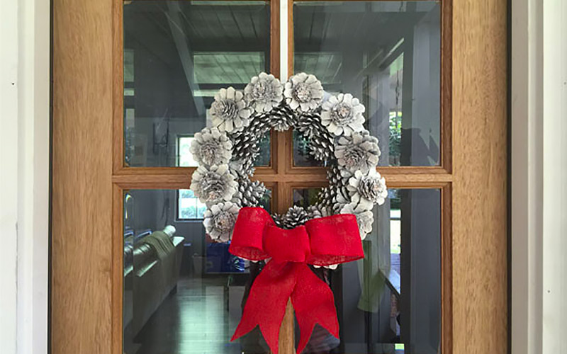 One-of-a-Kind Pinecone Wreath