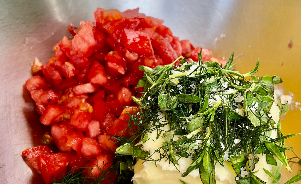 Charred Tomato Herb Butter
