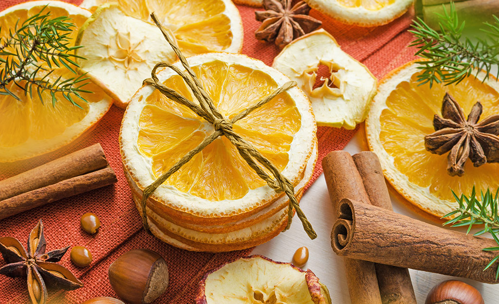 Citrus slices with spices