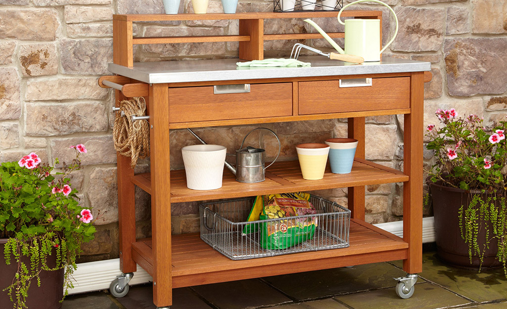 Create a Potting Bench Nook