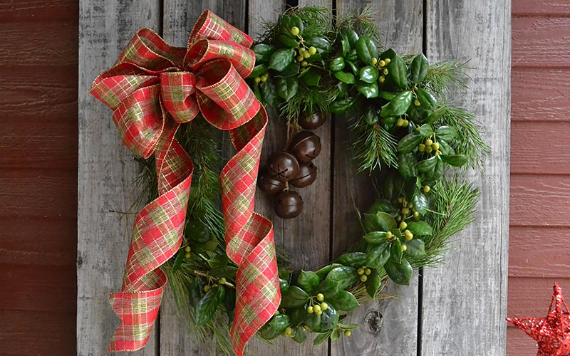 Holly and Pine Wreath
