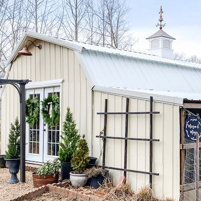 A Charming French Inspired Barn