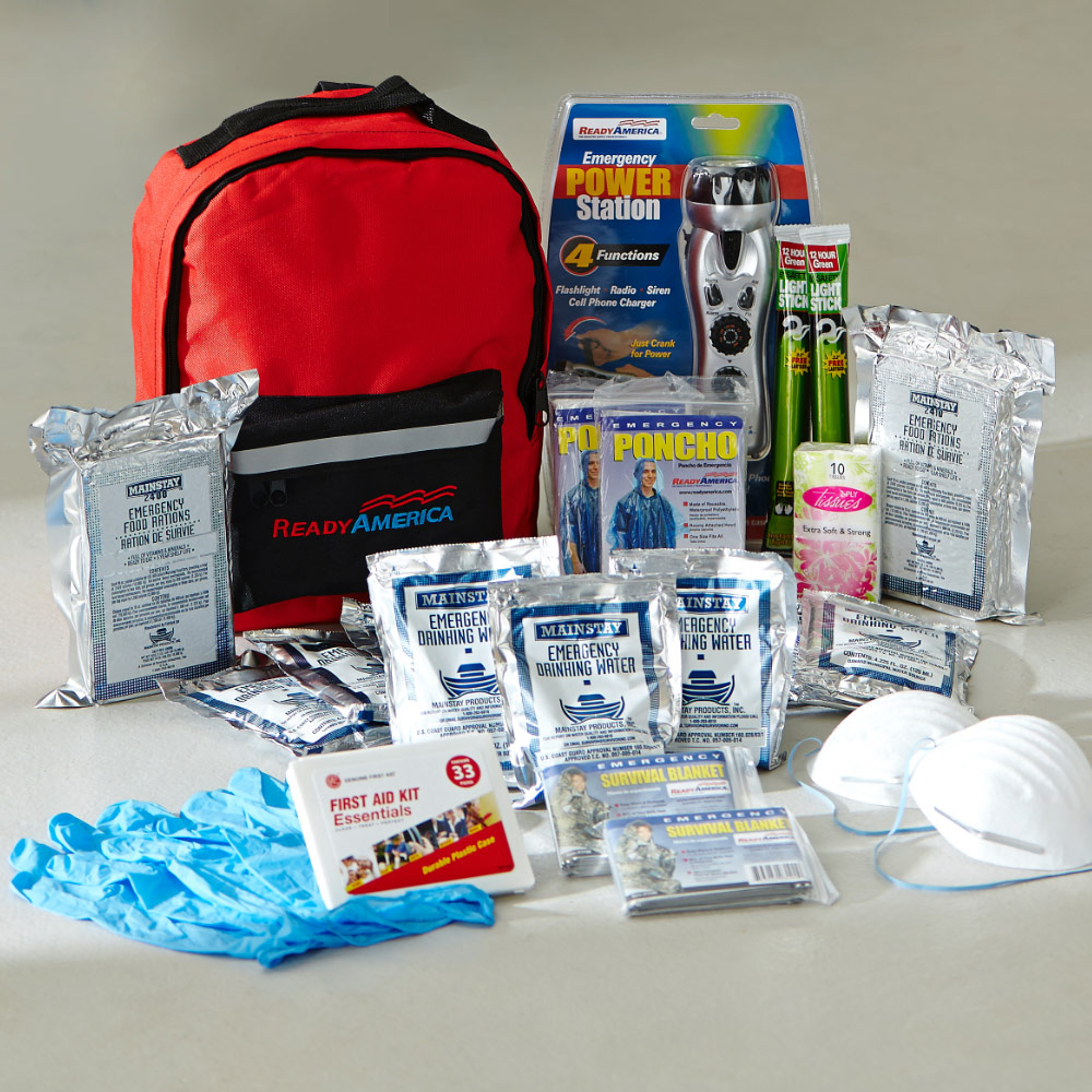 The contents of a workplace first aid kit.