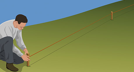 Building Fence Hill - Measure for the posts