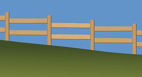 Building Fence Hill - Hillside Fencing