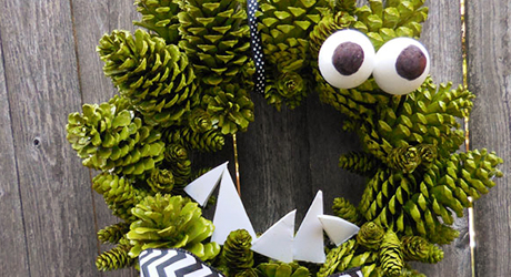 How To Make A Pinecone Wreath For Halloween The Home Depot