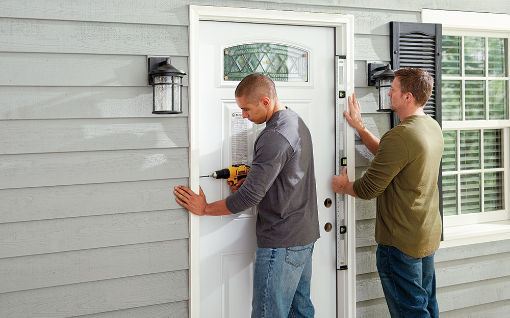 How To Install An Exterior Door The Home Depot