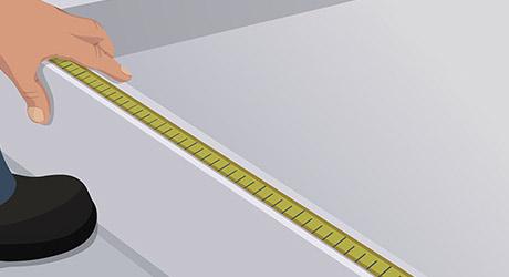 Measure cut threshold track - Pivot Shower Door