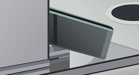 Install pivot clamps door - Pivot Shower Door