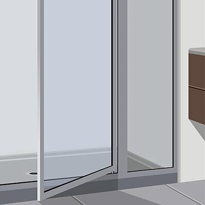 Install Pivot Shower Door