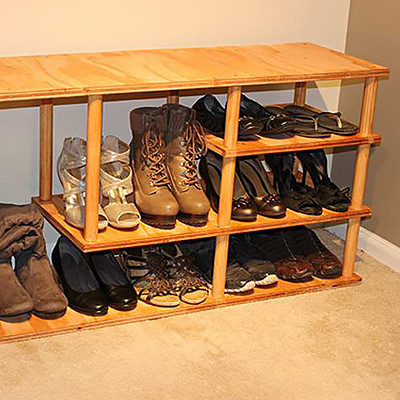 How To Make A Wooden Shoe Rack.How To Build A Shoe Rack The Home Depot
