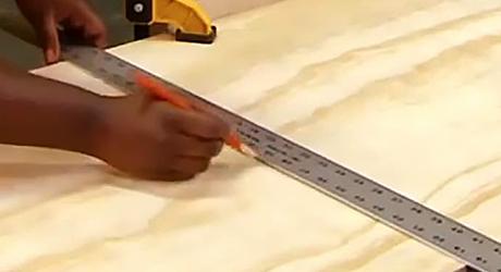 Mark cut lines - How  Build a Shoe Rack