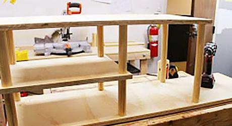 Construct bottom shelf - How Build Shoe Rack