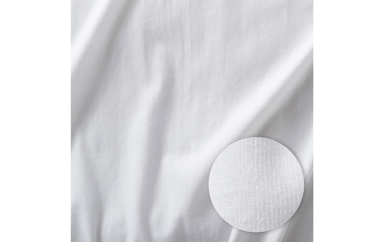 Jersey knit sheets shown with weave detail.