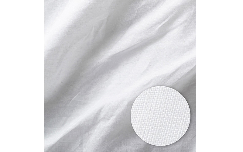 Linen sheets shown with weave detail.