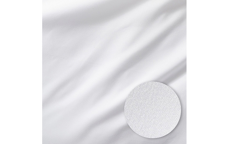 Microfiber sheets shown with weave detail.