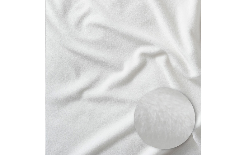 Microfleece sheets shown with weave detail.