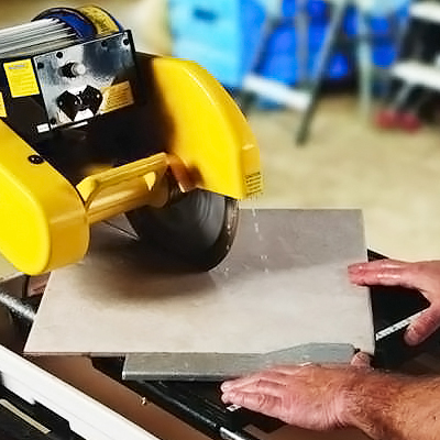 Cut Tile with a Wet Saw