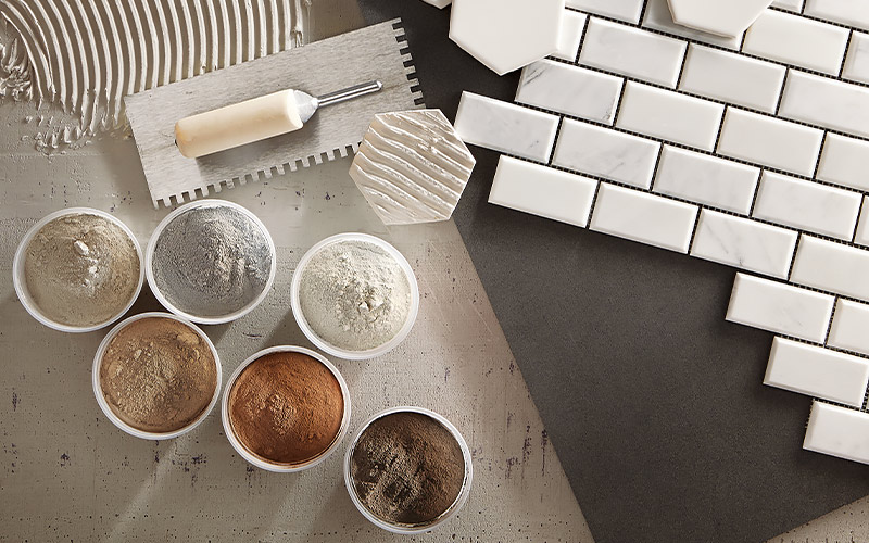 how to grout tile step 1