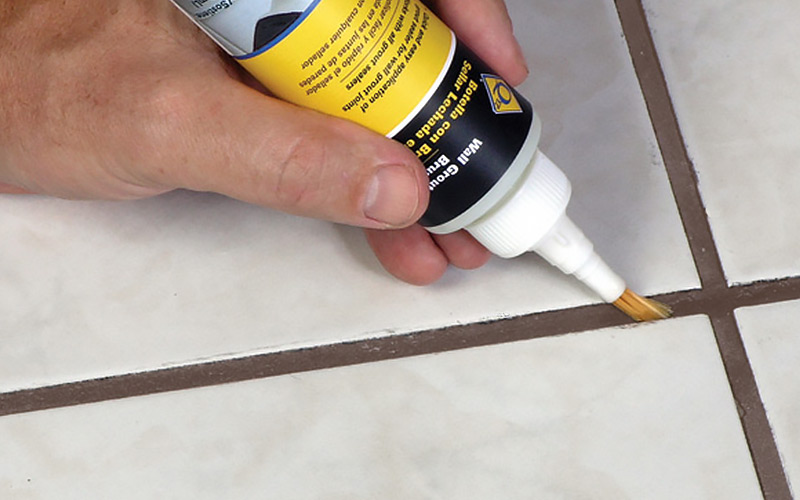 how to grout tile step 6