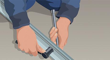Assemble carriage tube - How Install Garage Door Opener