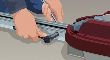 Mount carriage - How Install Garage Door Opener