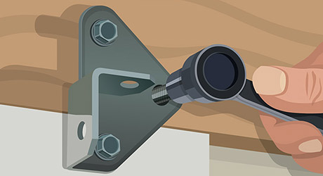 Mount header bracket - How Install Garage Door Opener