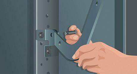 Attach bracket connects arm - How Install Garage Door Opener