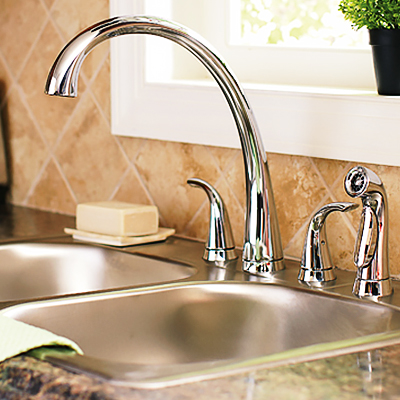 How To Install A Two Handle Kitchen Faucet The Home Depot