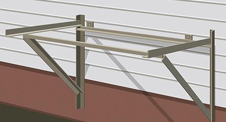 Install hanger support - Installing Evaporative Cooler