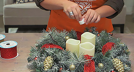 Add decorations - Make Christmas Centerpiece