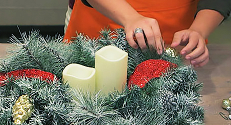 Add more light - Make Christmas Centerpiece