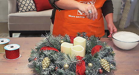 Make it snow - Make Christmas Centerpiece