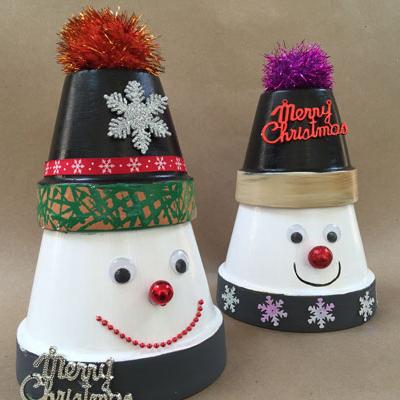 How to Make a Cute Terra Cotta Snowman