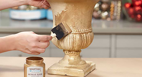 Paint urn - Make Holiday Branch Tree