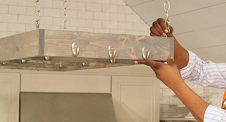 Hang from ceiling  - Make a Pot Rack