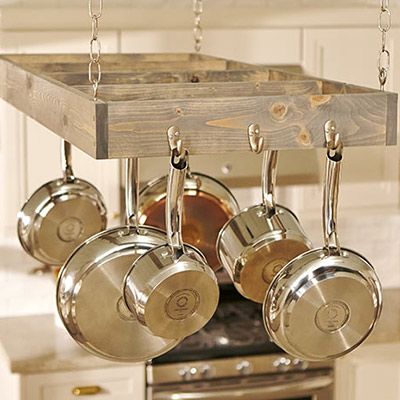 How To Make A Pot Rack The Home Depot