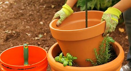 Add next planter - Herb Garden Tower Container