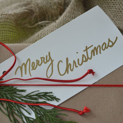 How to Wrap Christmas Gifts in Garden Style