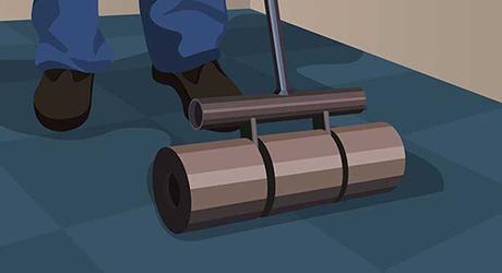 Roll the floor - Installing Carpet Tiles
