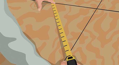 Square the lines - Installing Carpet Tiles