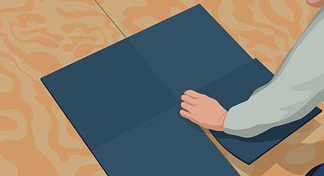 Lay center tiles - Installing Carpet Tiles