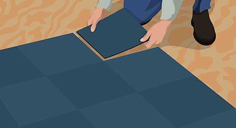 Lay starting corners - Installing Carpet Tiles