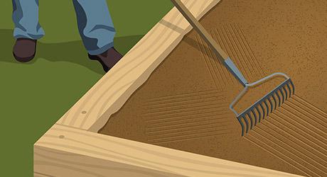 Add soil -  Landscape Timber Edging