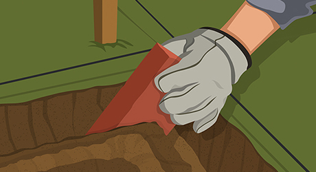 Dig a trench - Sawtooth Brick Edging