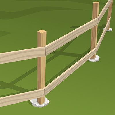 Installing Wood Fence Rails