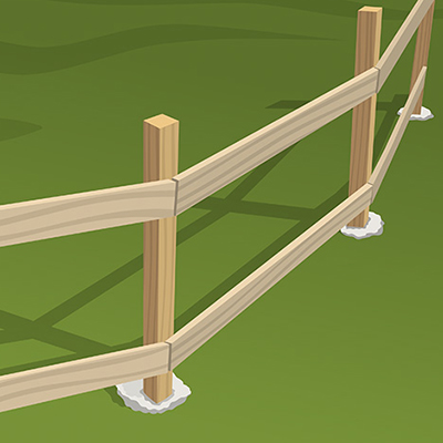How To Build A Post And Rail Fence The Home Depot