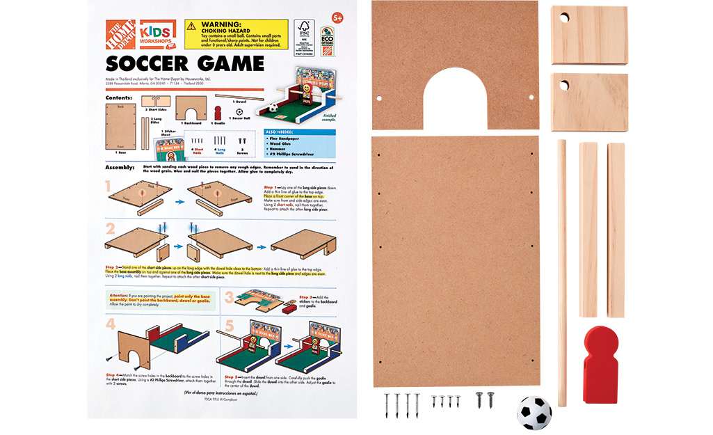 Tờ hướng dẫn và tất cả các phần của dự án trò chơi bóng đá.