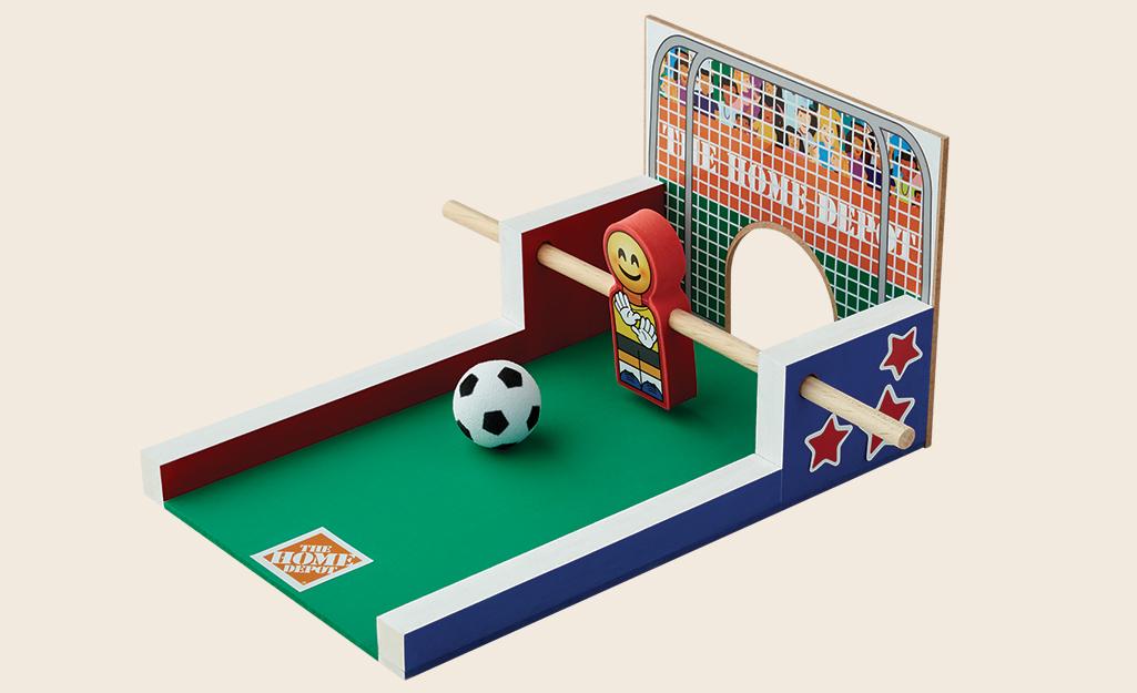 Một bộ trò chơi bóng đá trẻ em đã hoàn thành.